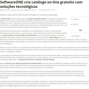 SoftwareONE cria catálogo on-line gratuito com soluções tecnológicas – IT Forum 365
