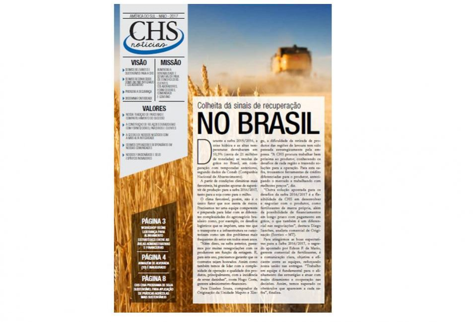 capa do Jornal CHS Notícias