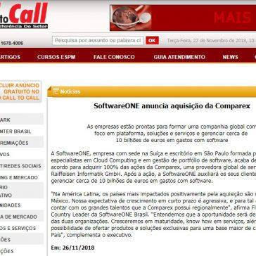SoftwareONE anuncia aquisição da Comparex – Call to Call
