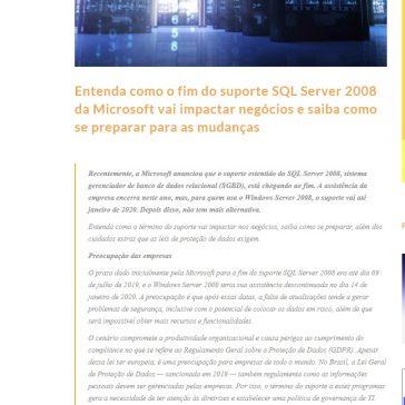 Entenda como o fim do suporte SQL Server 2008 da Microsoft vai impactar negócios e saiba como se preparar para as mudanças- MTI Tecnologia