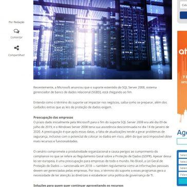 Entenda como o fim do suporte SQL Server 2008 da Microsoft vai impactar negócios- Infor Channel