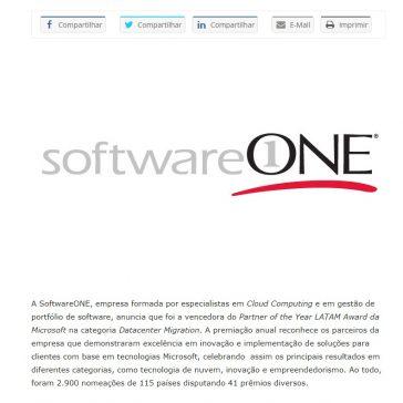SoftwareONE vence o Partner of the Year LATAM Award da Microsoft na categoria Datacenter Migration- E-commerce News