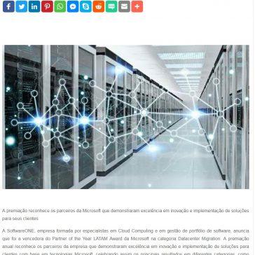 SoftwareONE vence o Partner of the Year LATAM Award da Microsoft na categoria Datacenter Migration- Segs