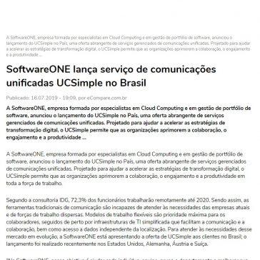 SoftwareONE lança serviço de comunicações unificadas UCSimple no Brasil- Ecompare