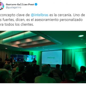 El concepto clave de Intelbras es la cercanía- Gustavo Gallino Twitter