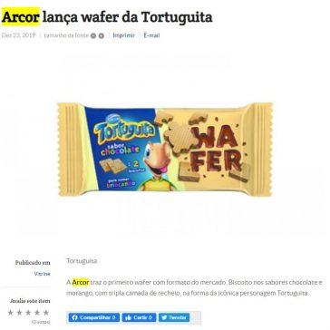 Arcor lança wafer da Tortuguita – Folha do ABC