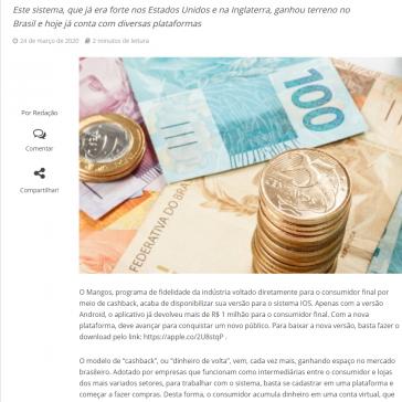 Mangos lança versão IOS para seu aplicativo de cashback – Inforchannel