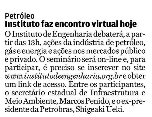 Instituto faz encontro virtual hoje - A Tribuna