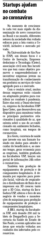 Startups ajudam no combate ao coronavírus - Jornal do Comércio