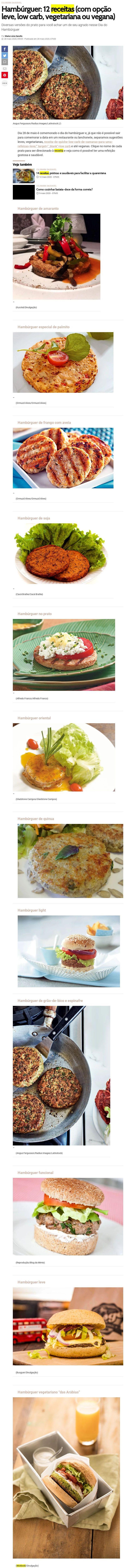 Hambúrguer: 12 receitas (com opção leve, low carb, vegetariana ou vegana) - Boa Forma