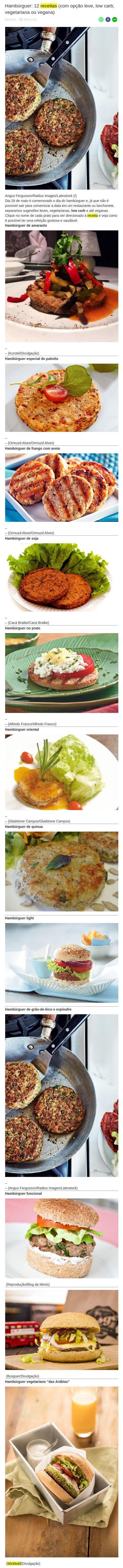 Hambúrguer: 12 receitas (com opção leve, low carb, vegetariana ou vegana) - Central de Notícias