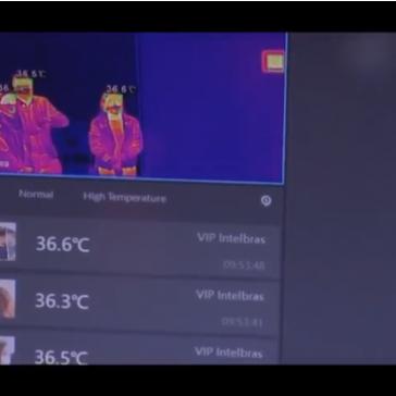Foi testada hoje na unidade de pronto atendimento de Canasvieiras uma câmera térmica capaz de identificar a temperatura corporal das pessoas – TV BARRIGA VERDE