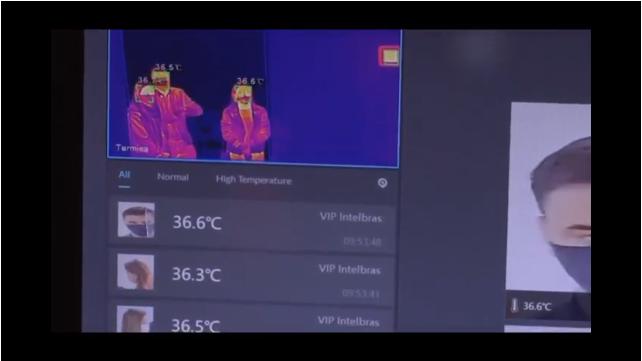 Foi testada hoje na unidade de pronto atendimento de Canasvieiras uma câmera térmica capaz de identificar a temperatura corporal das pessoas - TV BARRIGA VERDE