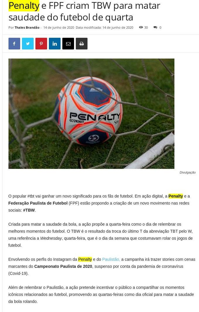 Penalty - Cidade Marketing