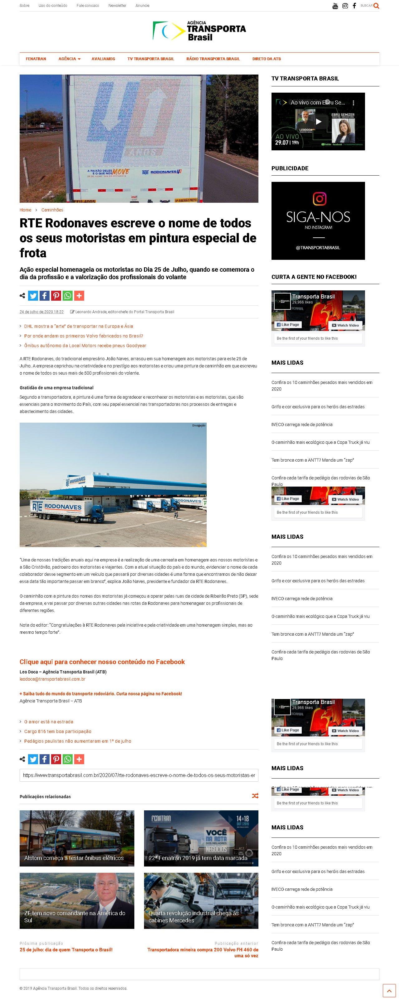 RTE - Transporta Brasil