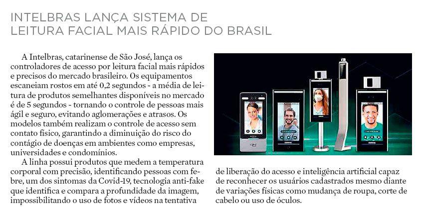 INTELBRAS LANÇA SISTEMA DE LEITURA FACIAL MAIS RÁPIDO DO BRASIL - Diário Catarinense