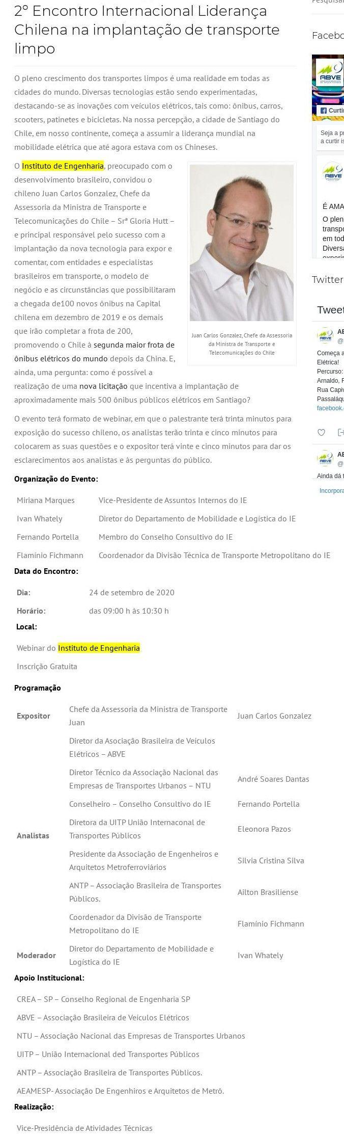 2° Encontro Internacional Liderança Chilena na implantação de transporte limpo - Abve