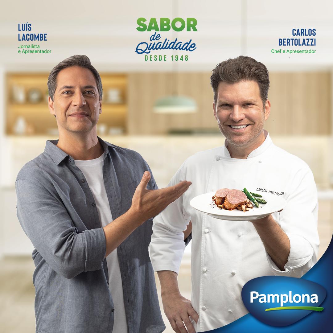 Carlos Bertolazzi e Luís Lacombe estrelam campanha da Pamplona Alimentos