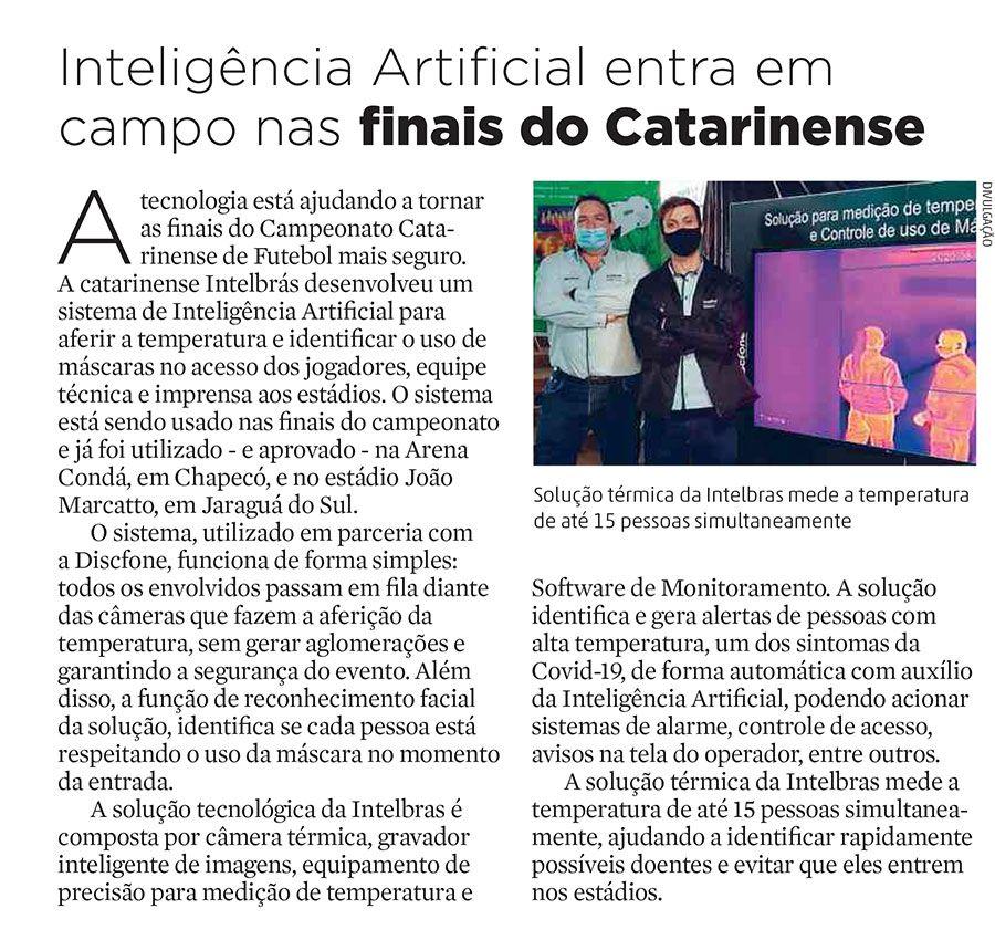Inteligência Artificial entra em campo nas finais do Catarinense Diário Catarinense