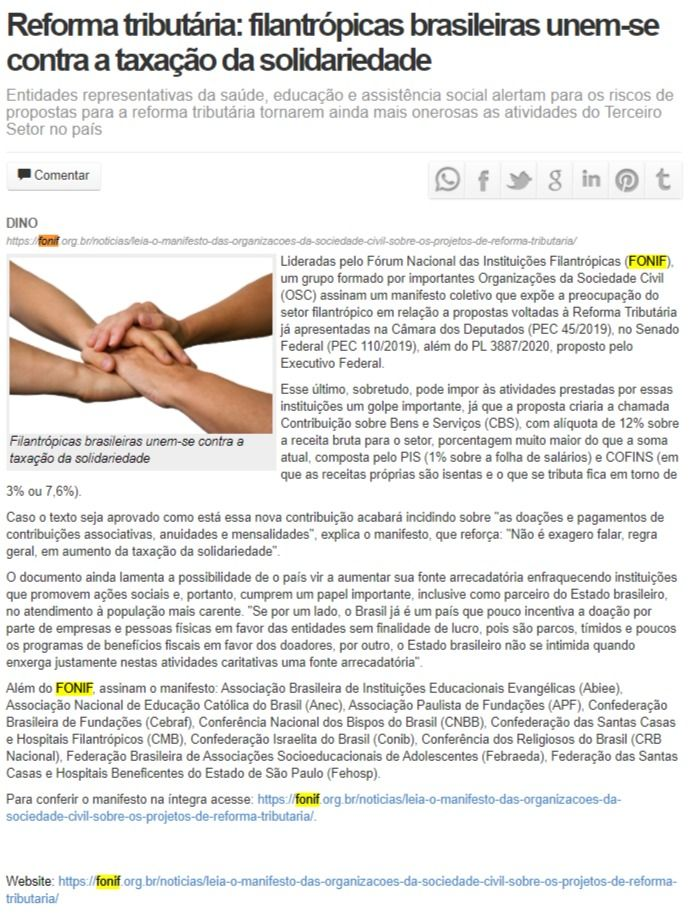 Reforma tributária: filantrópicas brasileiras unem-se contra a taxação da solidariedade Gazeta da Semana