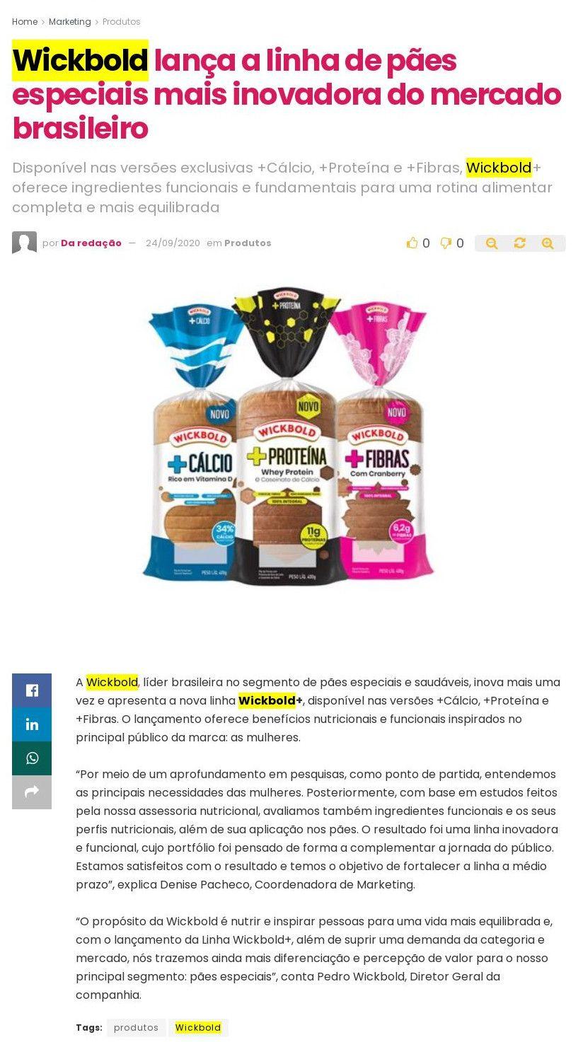 Wickbold lança a linha de pães especiais mais inovadora do mercado brasileiro - Abc da Comunicação