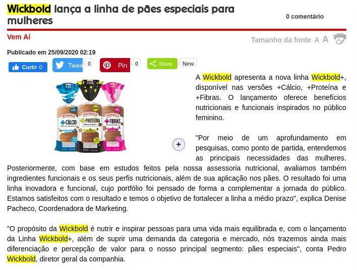 Wickbold lança a linha de pães especiais para mulheres - Arroz de Fyesta
