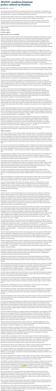 30ANOS: socialistas fomentam prática cultural em Diadema Capital Social