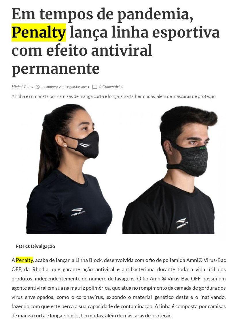 Em tempos de pandemia, Penalty lança linha esportiva com efeito antiviral permanente Farol da Bahia