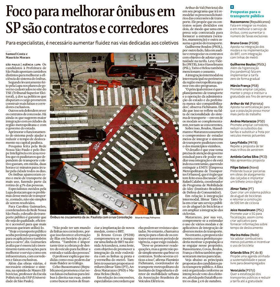 Foco para melhorar ônibus em SP são contratos e corredores - Folha de S.Paulo