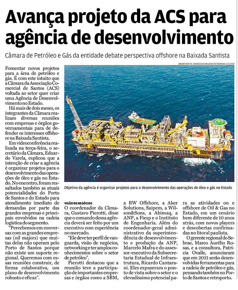 Avança projeto da ACS para agência de desenvolvimento - A Tribuna