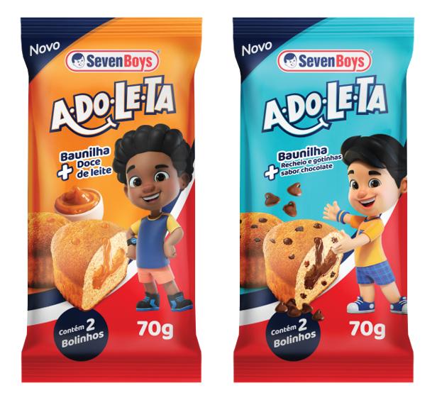 Imagens ilustrativas das embalagens da linha Adoleta
