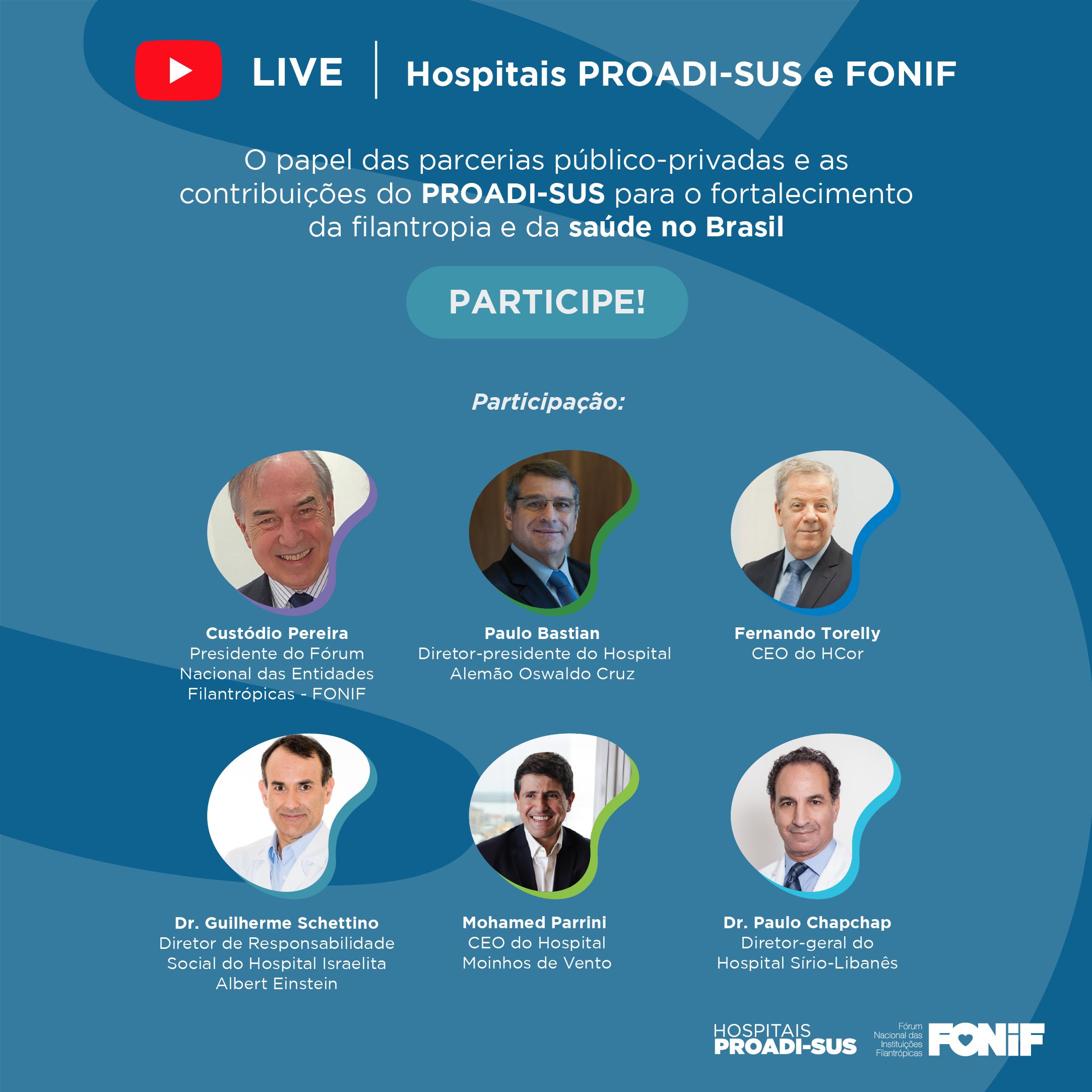 Live promove debate sobre a importância da filantropia para a sociedade brasileira