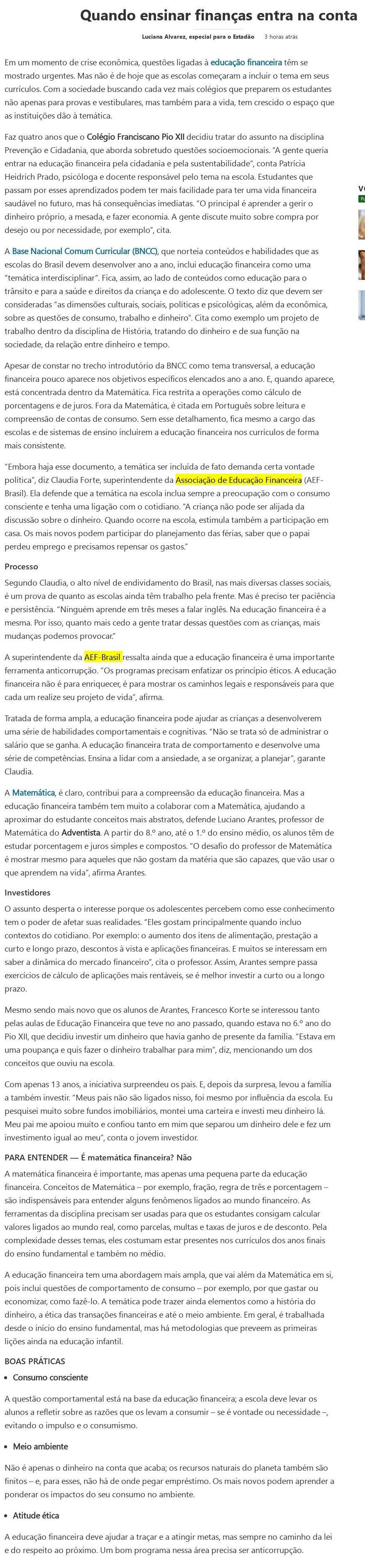 Quando ensinar finanças entra na conta - MSN Brasil