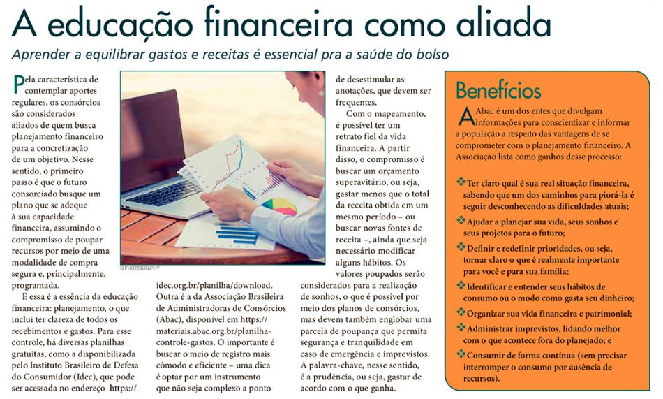 A educação financeira como aliada - Folha de S.Paulo