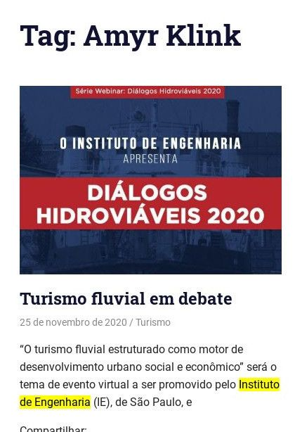 Turismo fluvial em debate - Júlio Zaruch