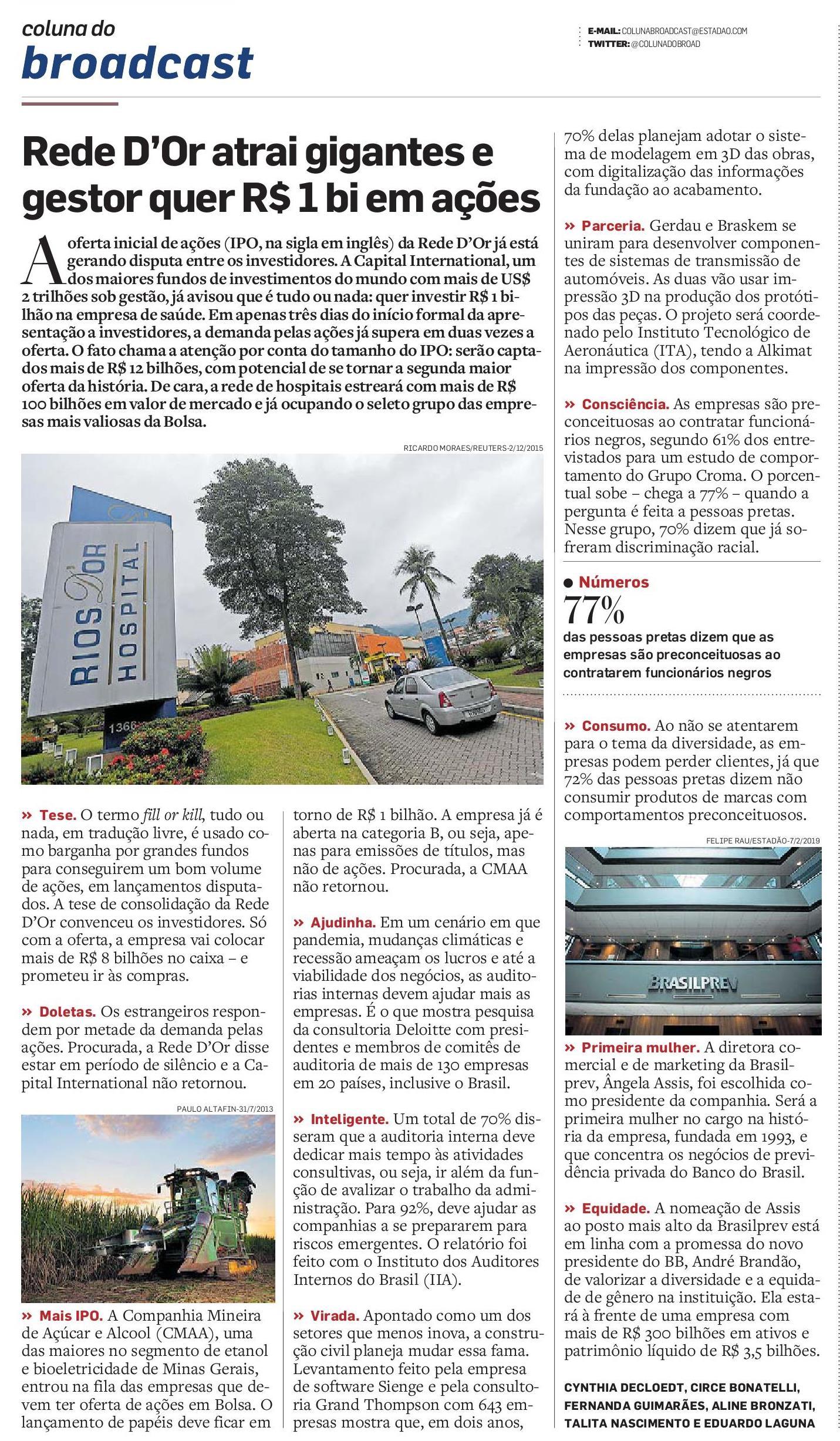 Coluna do Broadcast - O Estado de S.Paulo