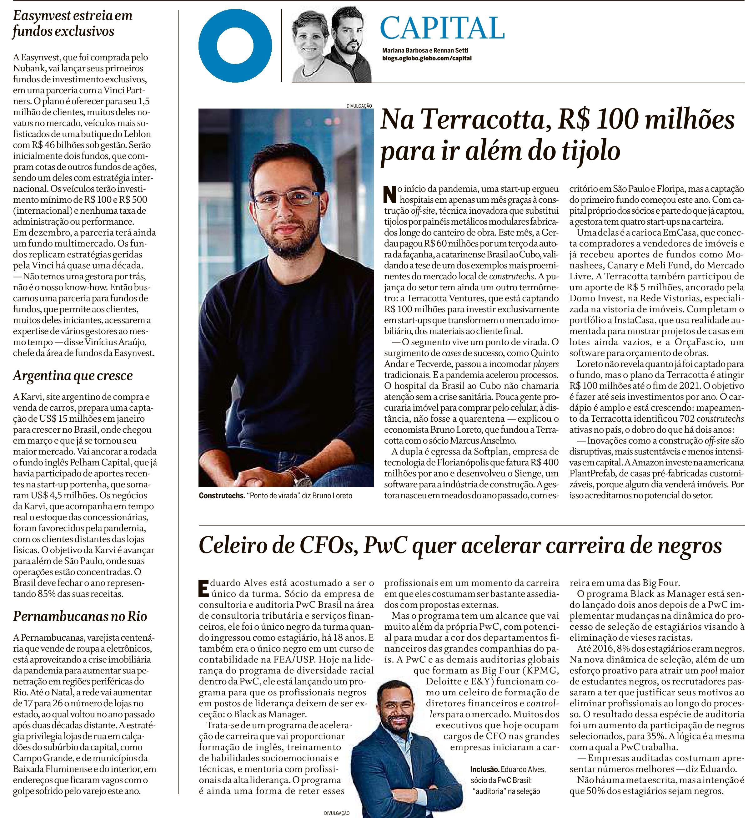 Coluna Capital - O Globo