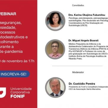 Webinar debate os efeitos psicológicos durante e pós-pandemia