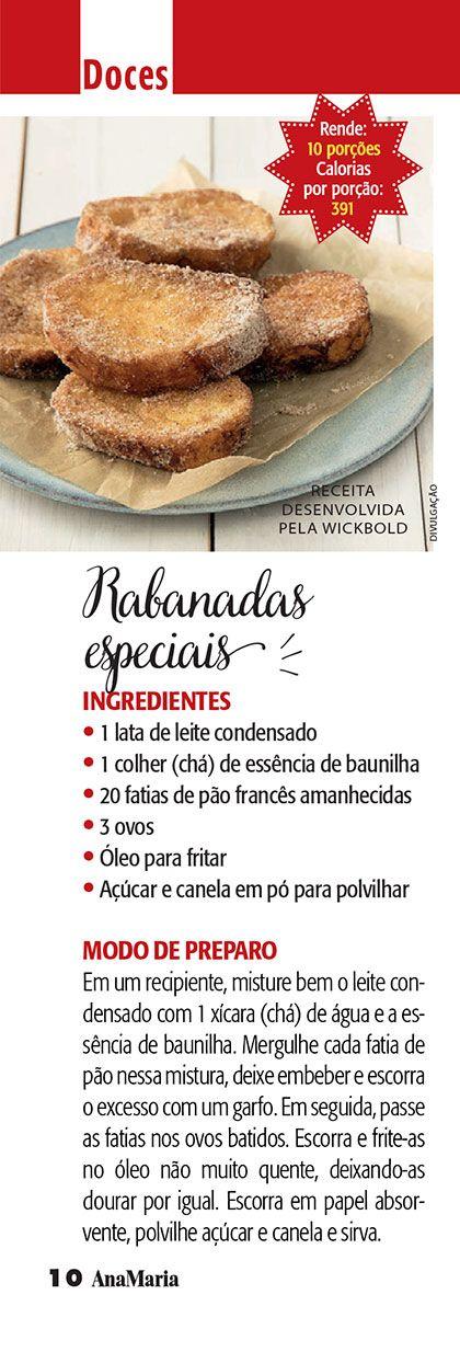 Rabanadas especiais - Ana Maria Receitas (Revista Ana Maria)