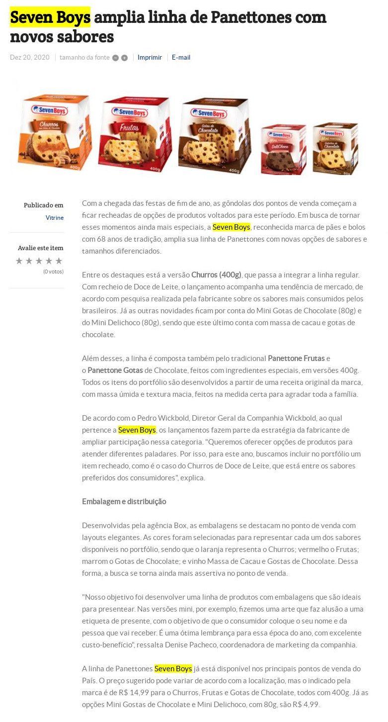 Seven Boys amplia linha de Panettones com novos sabores Folha do ABC