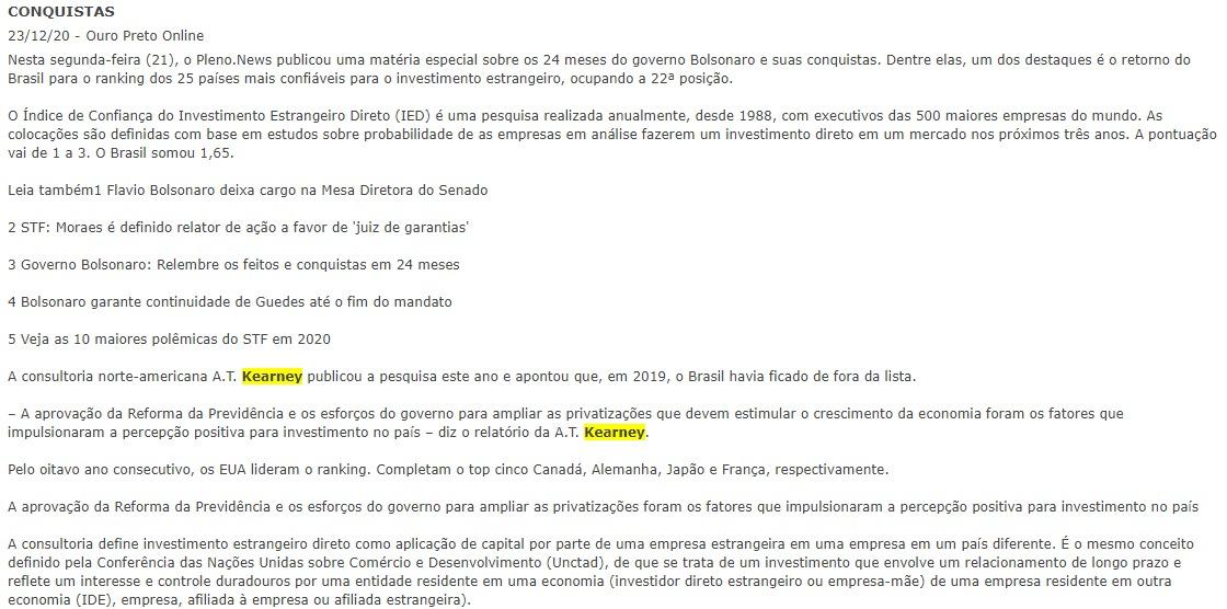 CONQUISTAS - Ouro Preto Online