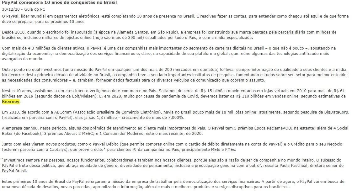 PayPal comemora 10 anos de conquistas no Brasil - Guia do PC