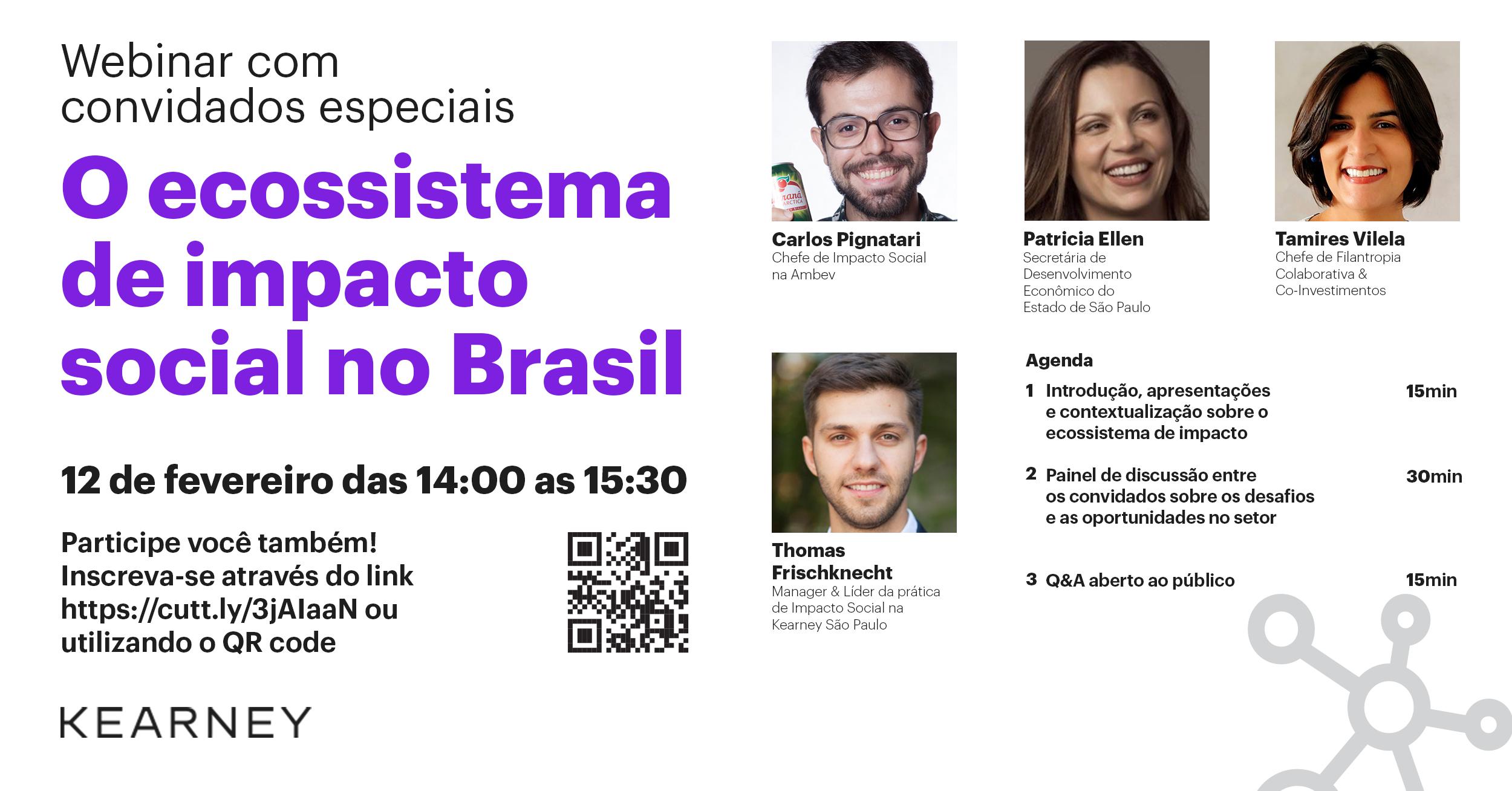 Kearney promove webinar para fomentar discussões sobre filantropia e investimentos de impacto social no Brasil