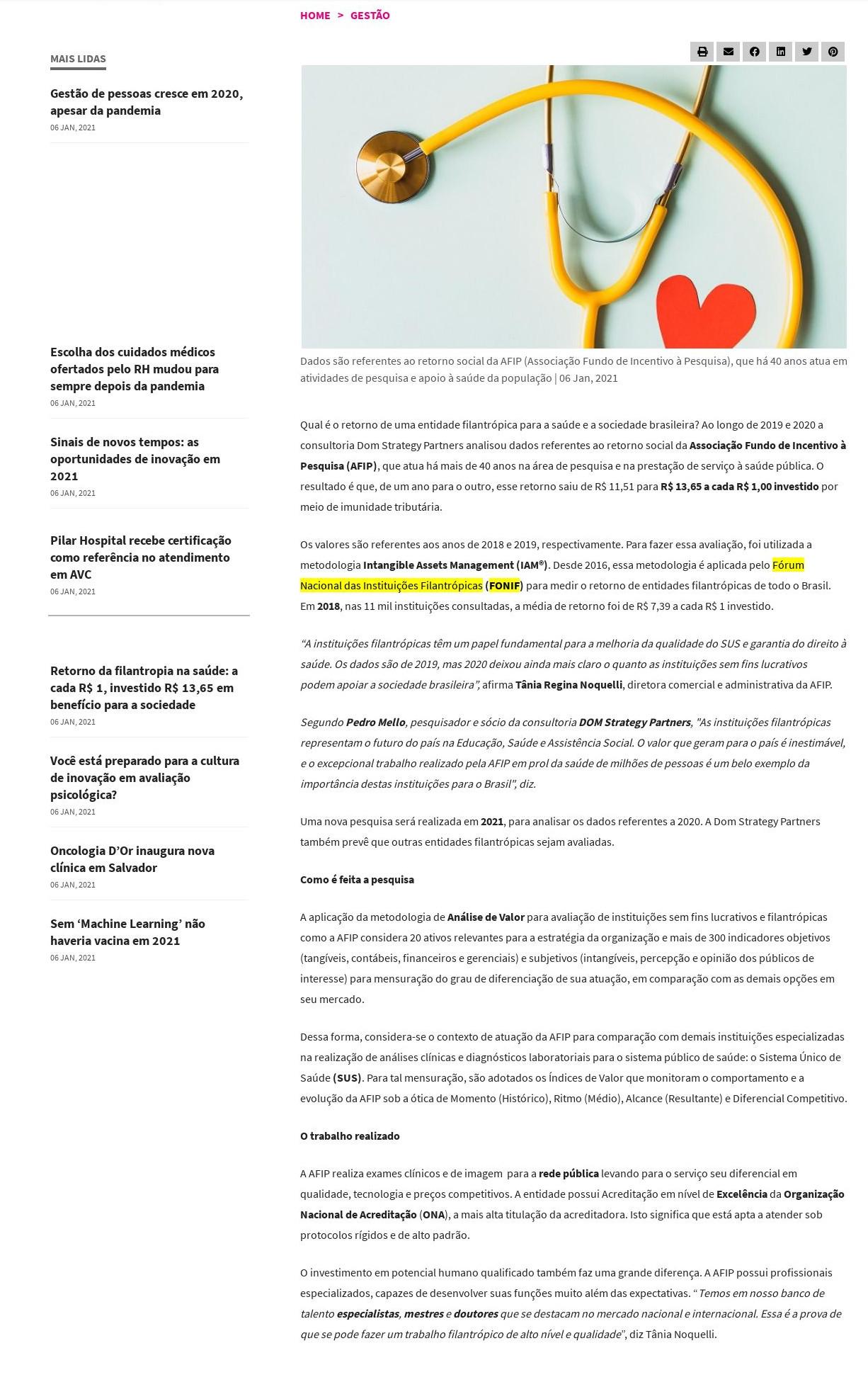Retorno da filantropia na saúde: a cada R$ 1, investido R$ 13,65 em benefício para a sociedade - Saúde Business