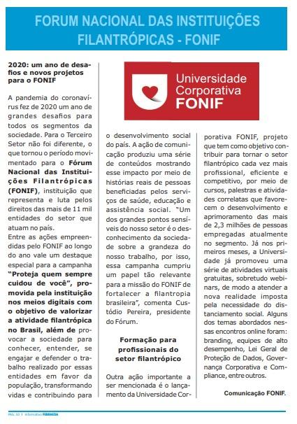 v2020: um ano de desafios e novos projetos para o FONIF - Revista Febraeda