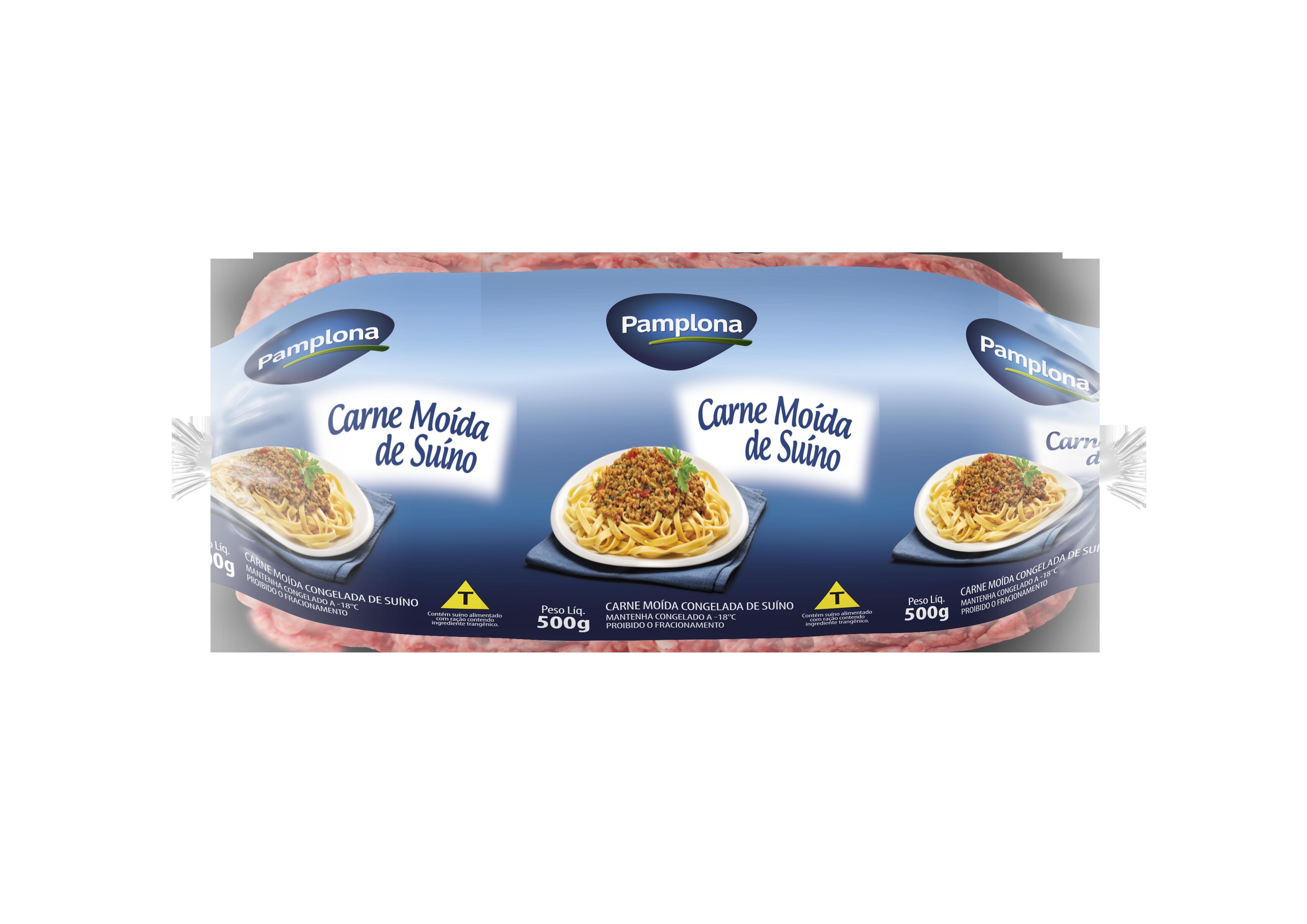 Embalagem da Carne Moída de Suíno da Pamplona Alimentos