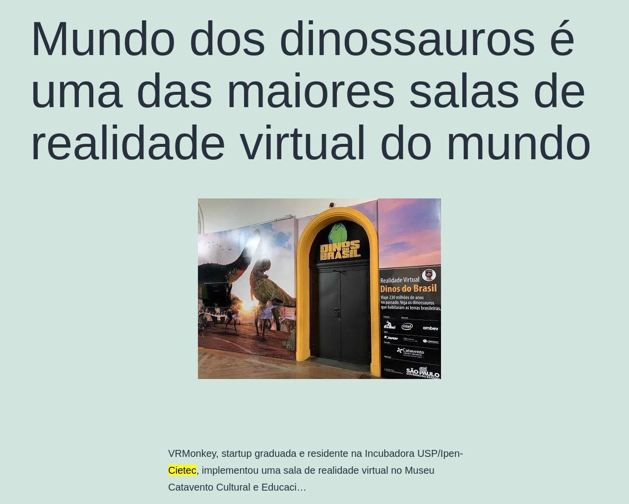 Mundo dos dinossauros é uma das maiores salas de realidade virtual do mundo - Coisas Geek