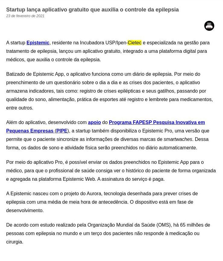 Startup lança aplicativo gratuito que auxilia o controle da epilepsia - FAPESP PESQUISA
