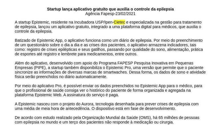 Startup lança aplicativo gratuito que auxilia o controle da epilepsia - Rede Clipex