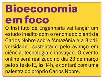 Bioeconomia em foco - A Crítica